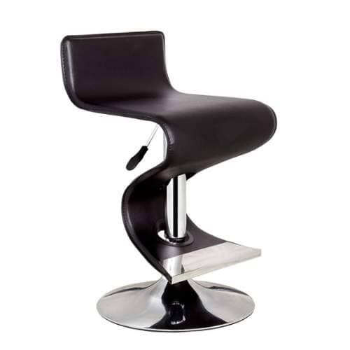 Bromi Design BF2620 King 36 Inch Tall Adjustable Leather Bar Stool (chrome / black (Grey/Black))