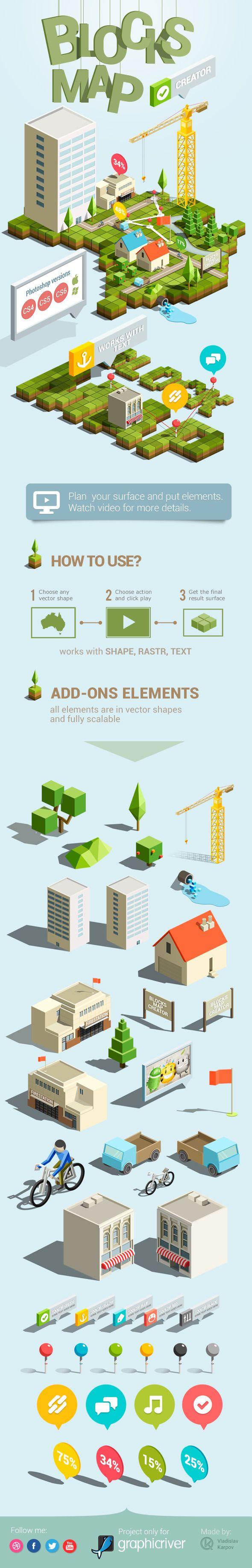 Blocks Map Creator - Actions Photoshop