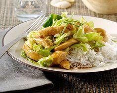 Kip met rijst en spitskool. recept