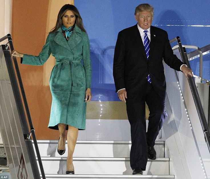 Green with envy:Melania's choice of designer was a bit of a surprise, with von Furstenber...