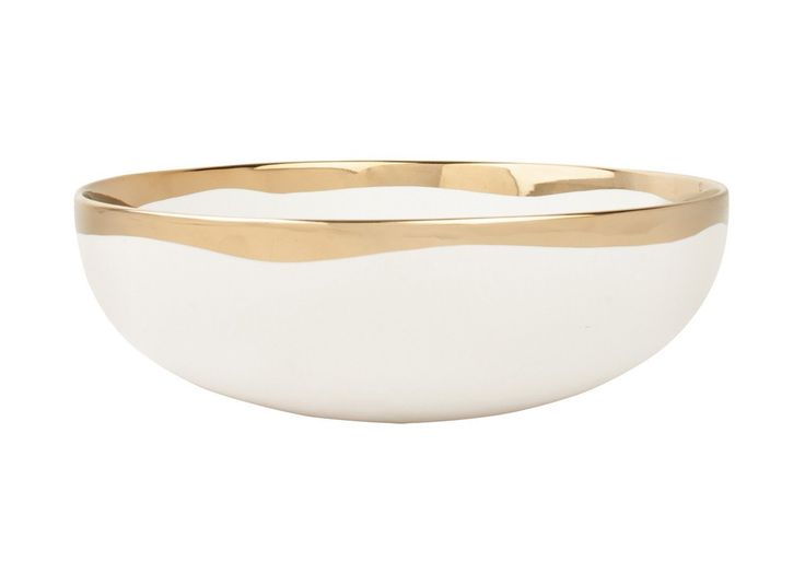 DAUVILLE GOLD SERVING BOWL