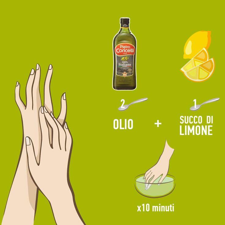 Olio evo e succo di limone per unghie forti e mani morbide. Lo sapevi?