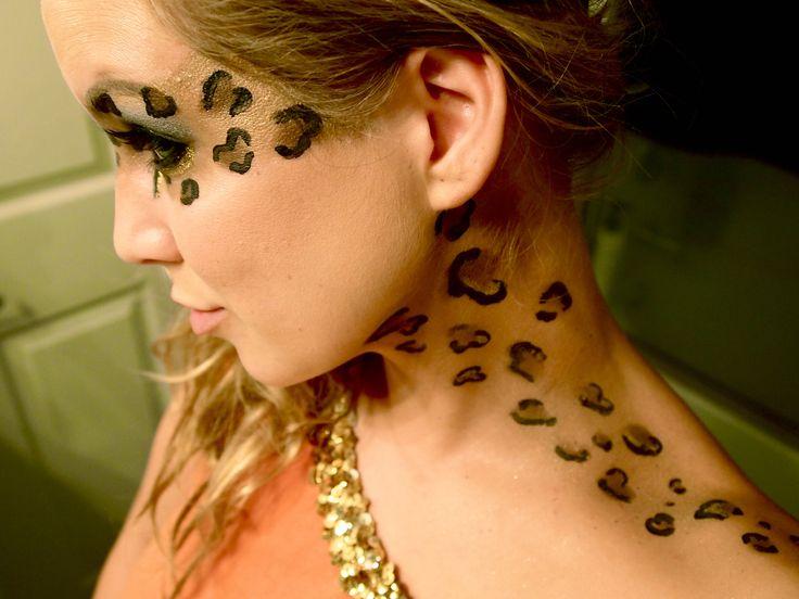 animal print makeup for halloween | Leopard Print Face Paint