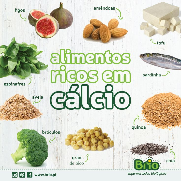 Brio, Supermercados Biologicos - Alimentos ricos em cálcio