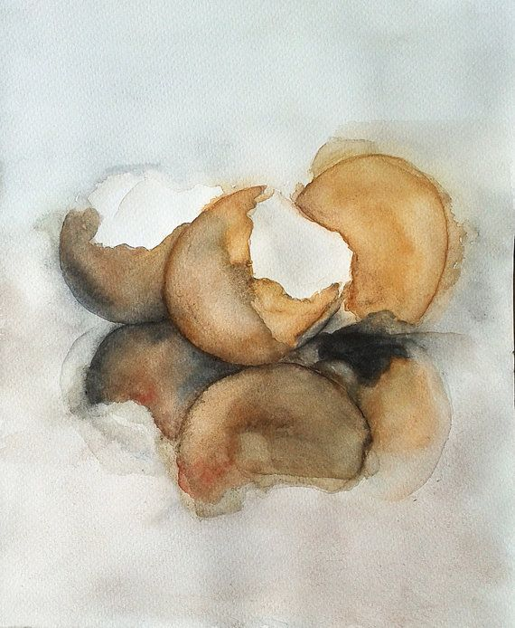Original still life eggshells. Egg paingting Eggs by RhymingScapes  #DifferenceMakesUs