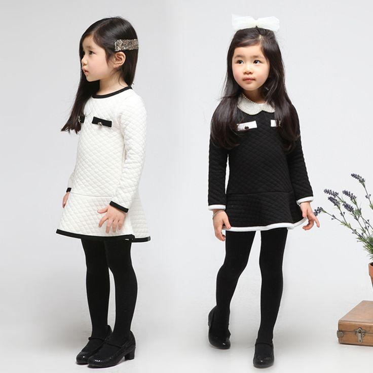 2013  Winter Children Colthes Korean Girls' Dresses Foreign Trade Kids Wear