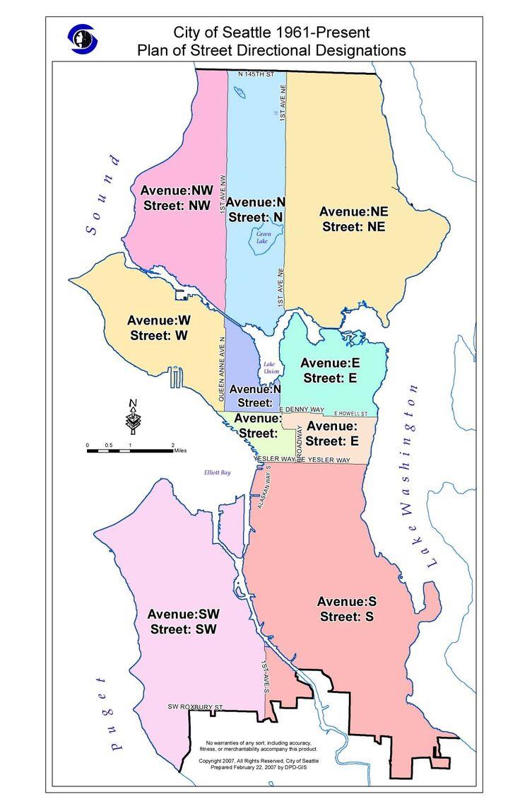 8 best seattle maps images on Pinterest  Seattle Seattle
