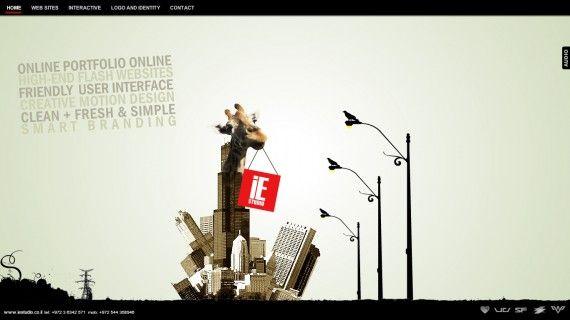 Website Portofolio Terbaik dengan Desain Keren - IE Studio