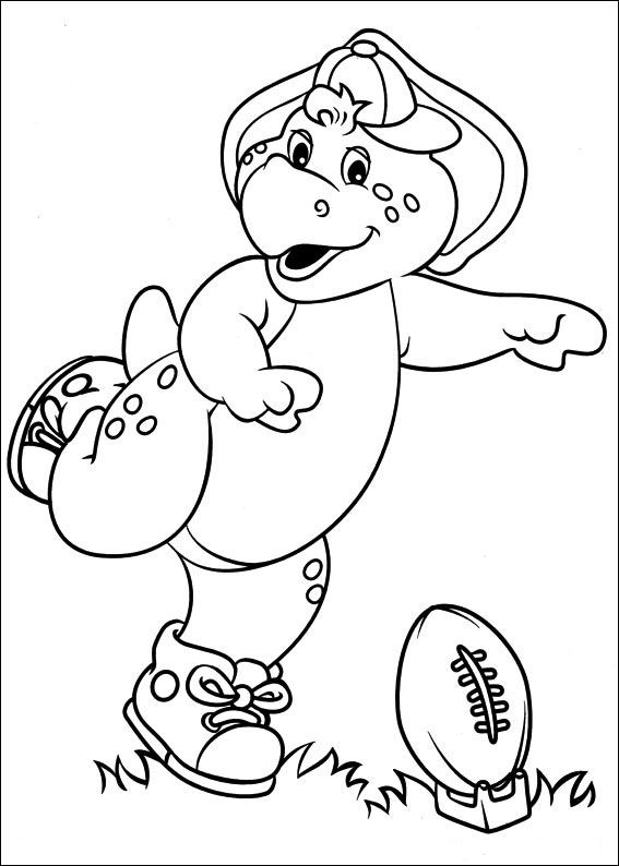 Barney And Friends Coloring Pages For Kids