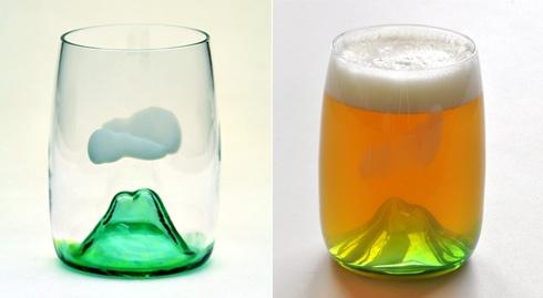 富士山ビールグラス Fujiyama beer glass