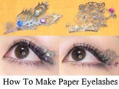 How To Make Paper Eyelashes Tutorial - DIY Step By Step