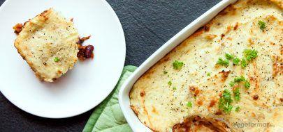 Vegetarisk Sheperd's pai
