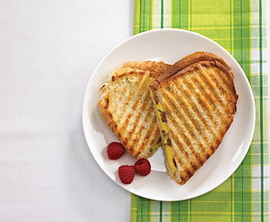 Egg and Breakfast Sausage Panini with Tre Stelle® Bocconcini #brunch #bocconcini #recipe