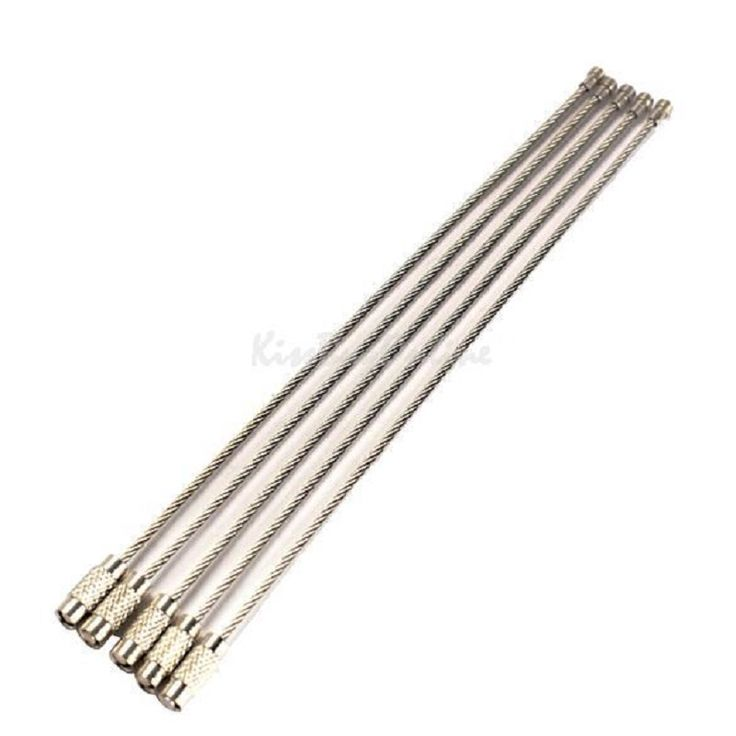 5 Adet/grup 15 cm Paslanmaz Çelik Tel Anahtarlık Kablo anahtarlık ile Açık Havada Yürüyüş Tırmanma Araçları Zincir Kilidi