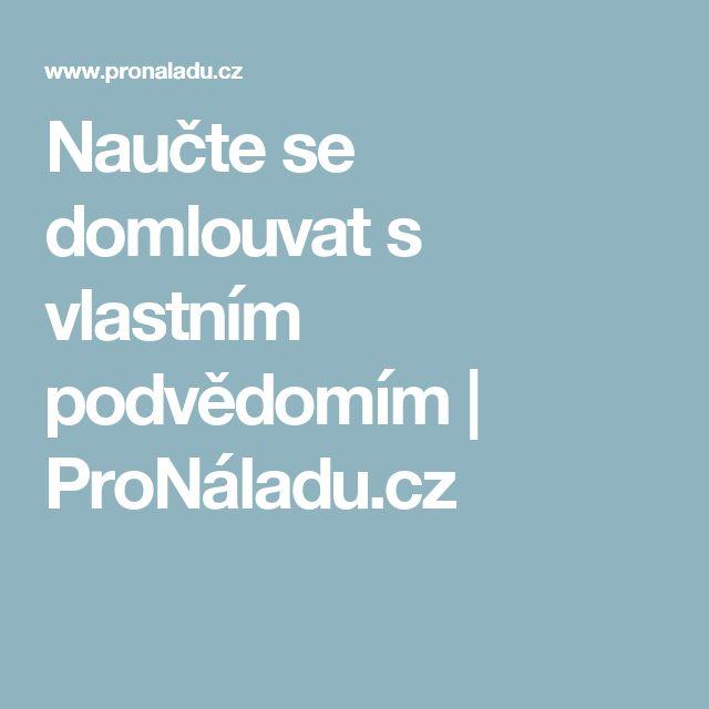 Naučte se domlouvat s vlastním podvědomím   ProNáladu.cz