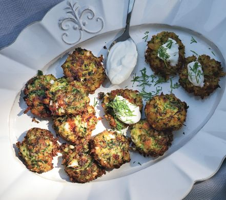 Zucchini Keftedes with Feta and Dill - I would like to try this. I need more Mediterranean in my life!
