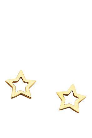 Karen Walker Jewellery for Women | Mini Star Stud Earrings in Gold | Incu $169