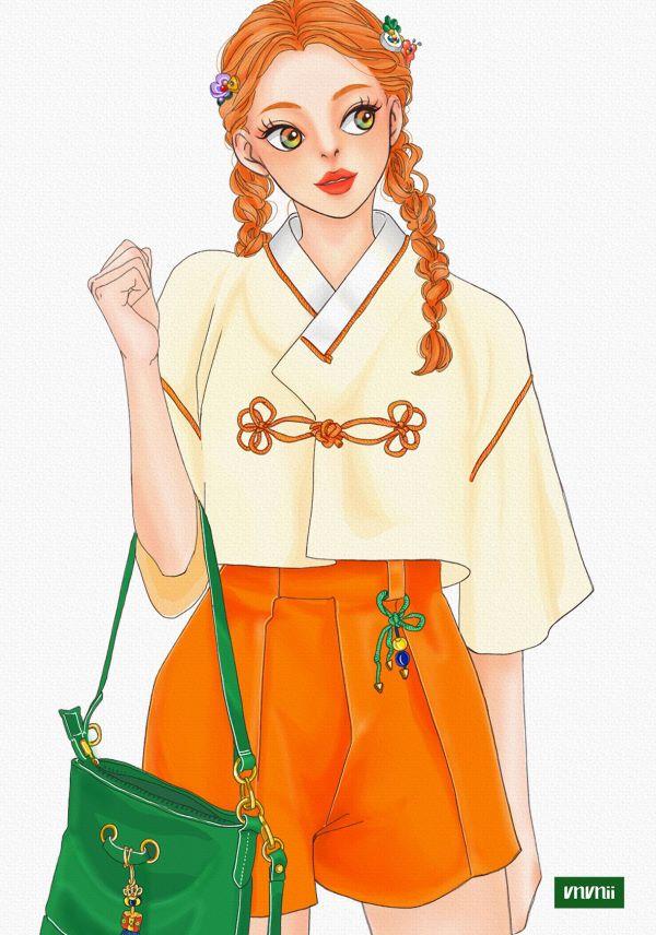 오렌지 illustrator vnvnii  여름이 성큼