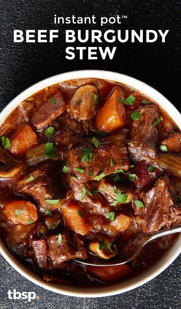 Instant Pot Beef Burgundy Stew Recipe Instant Pot Dinner Recipes Beef Recipes Easy Stew Recipes