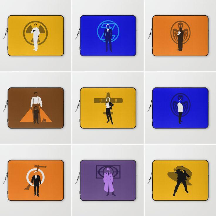 The Art of Villainy Laptop Sleeves @ http://society6.com/vectorvectoria/laptop-sleeves