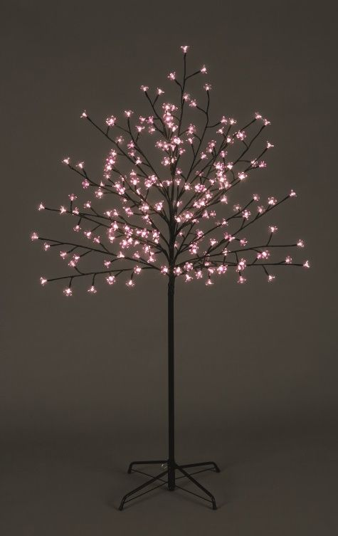Drzewo dekoracyjne z różowymi lampkami LED