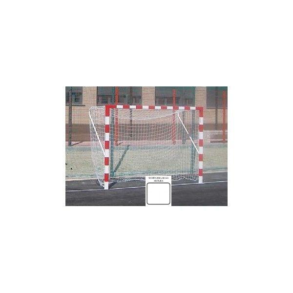Jgo. de porterías de fútbol sala / balonmano fijas metálicas de sección 80x80 mm.