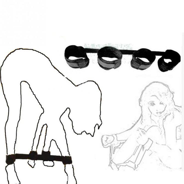تحت السرير القيود الجنس لعب للأزواج عبودية الأشرطة المثيرة ألعاب الكبار الرقيق القدم الأصفاد اليد الكاحل للجنس