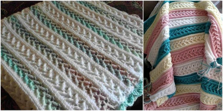 Crochet Afghan with Arrow Stitch [Free Pattern]