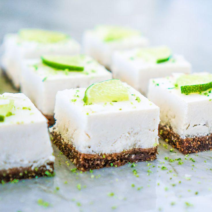 Rezept für einen veganen Kokos-Käsekuchen - der Kuchen gelingt ohne backen, ist gesund, lecker und bekömmlich ...