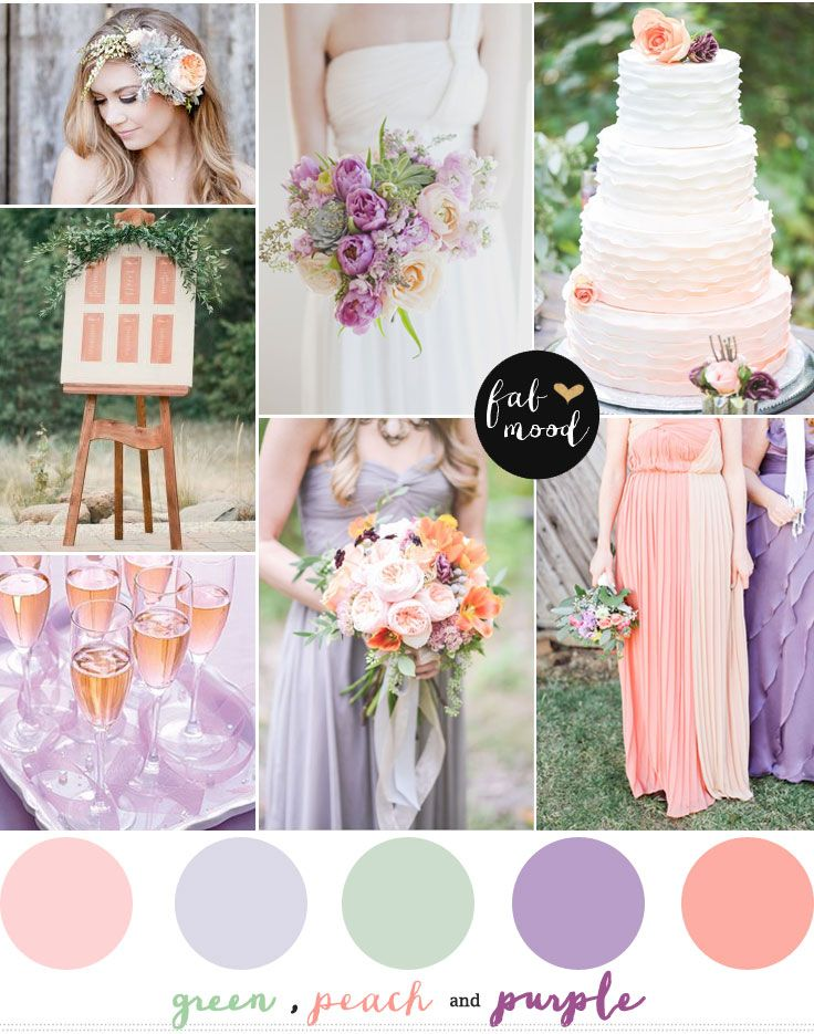 Purple green and peach wedding | http://fabmood.com/purple-green-and-peach-wedding/