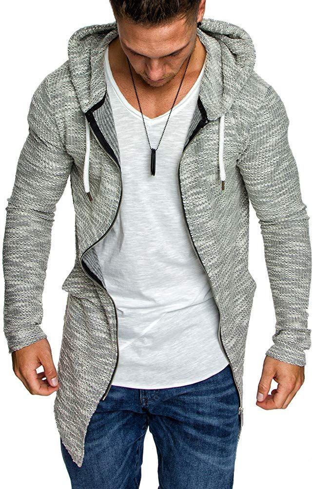schwarz grau Herren Sweatshirt Sweatjacke Jacke Pullover Pulli Hoodie