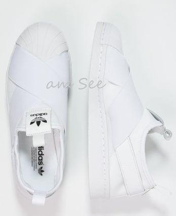 adidas スリッポン 【adidas Originals】SUPERSTER レディーススリッポン 白(3)