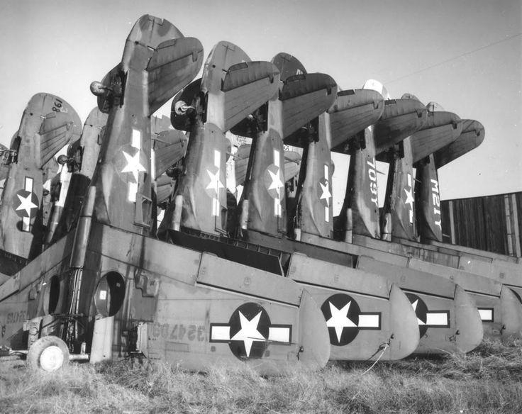 War Surplus P40's What a waste.