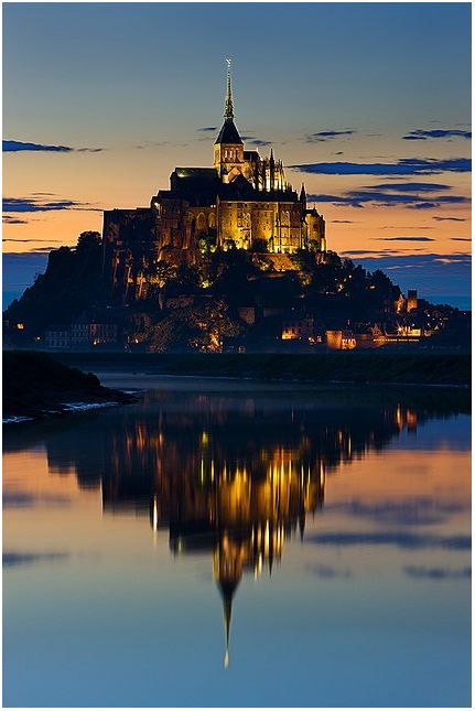 Explore the spectacular Gothic abbey of Mont St. Michel, France - http://www.jetsetter.com/win/economist