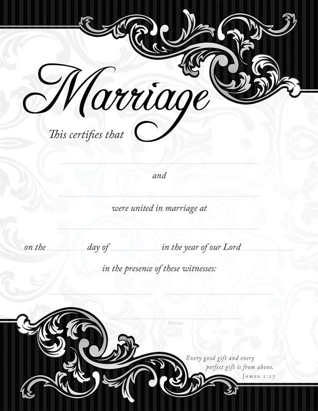 Keepsake Marriage Certificate with muted roses