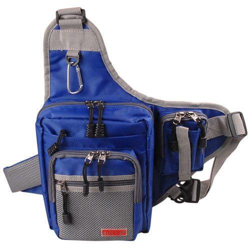 Noeby Fishing Bag23*18*8cm Single Shoulder Fishing Tackle Waterproof Backpack Handbag Crossbody Messenger Sling Bags Bolsa Pesca