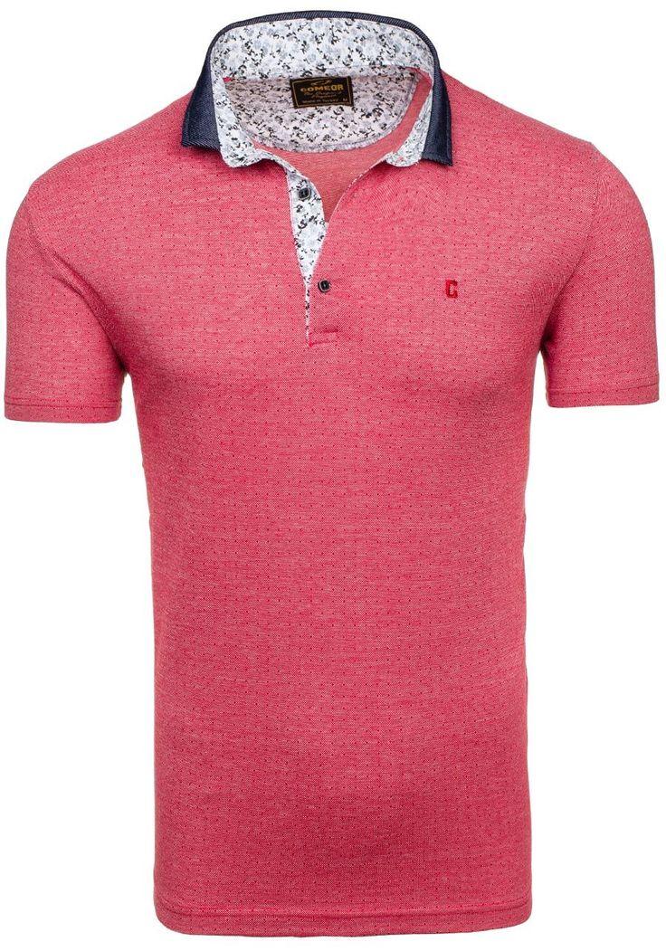 Pánská polokošile COMEOR 4813 červená ČERVENÁ | Pánská móda \ Pánské polokošile | Bolf - Internetový Obchod s Oblečením | Oděv | Oblečení | Kabáty | Bundy