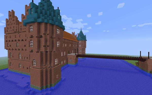 Minecraft copy of Egeskov slot in Denmark - Using digital games as learning experiences for kids. Made by Jakob Skjerning