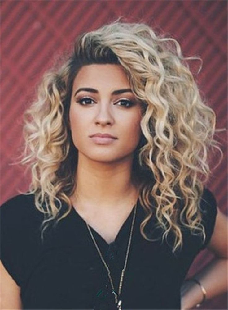 Blonde Ombre Curly Wig Human Hair