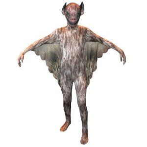 Vampire Bat Kids Animal Morphsuit Costume - The Vampire Bat Kids Animal Morphsuit Costume is a full bodysuit that covers everything from head to toe for a totally dramatic effect. This child-size suit is produced by the original Morphsuit company, and is made of stretchy, high-quality Spandex material. Boys and teens love Morphsuits, with head to toe coverage, they are anonymous, comfortable and super cool.  #vampire #bat #yyc #calgary #kids #halloween #children #costume