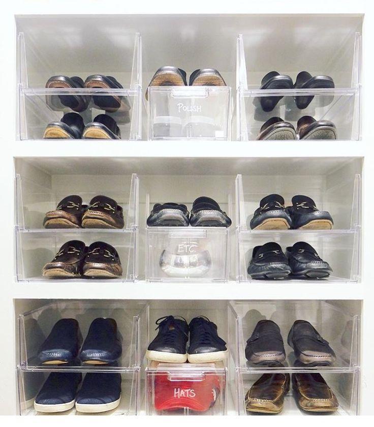 shoe storage organizing acrylics clear shelf divider