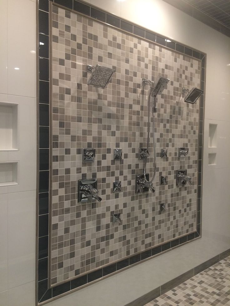 #TileTuesday's installation is out of Salt Lake City, Utah using our Metro Mosaic (floors and wall) and Area Black as an accent frame! #Mosaic #love #tile #Tuesday #walltile #metro #area #SLC #UT #SaltLakeCity #Utah #accent #decor #subwaytile #shower #bathroom #design #interiordesign #stone #ceramic #tiles #flooring #homedecor #spa #inspiration #emsertile