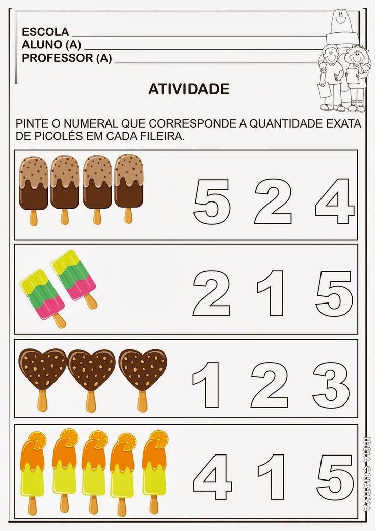 Na alfabetização a matemática é fundamental para o desenvolvimento do raciocínio logico da criança, pensando nisso trouxemos atividades nume...