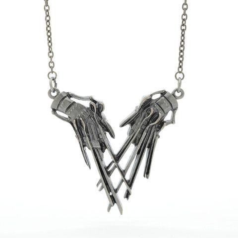 Edward Scissorhands Hands Pendant Necklace