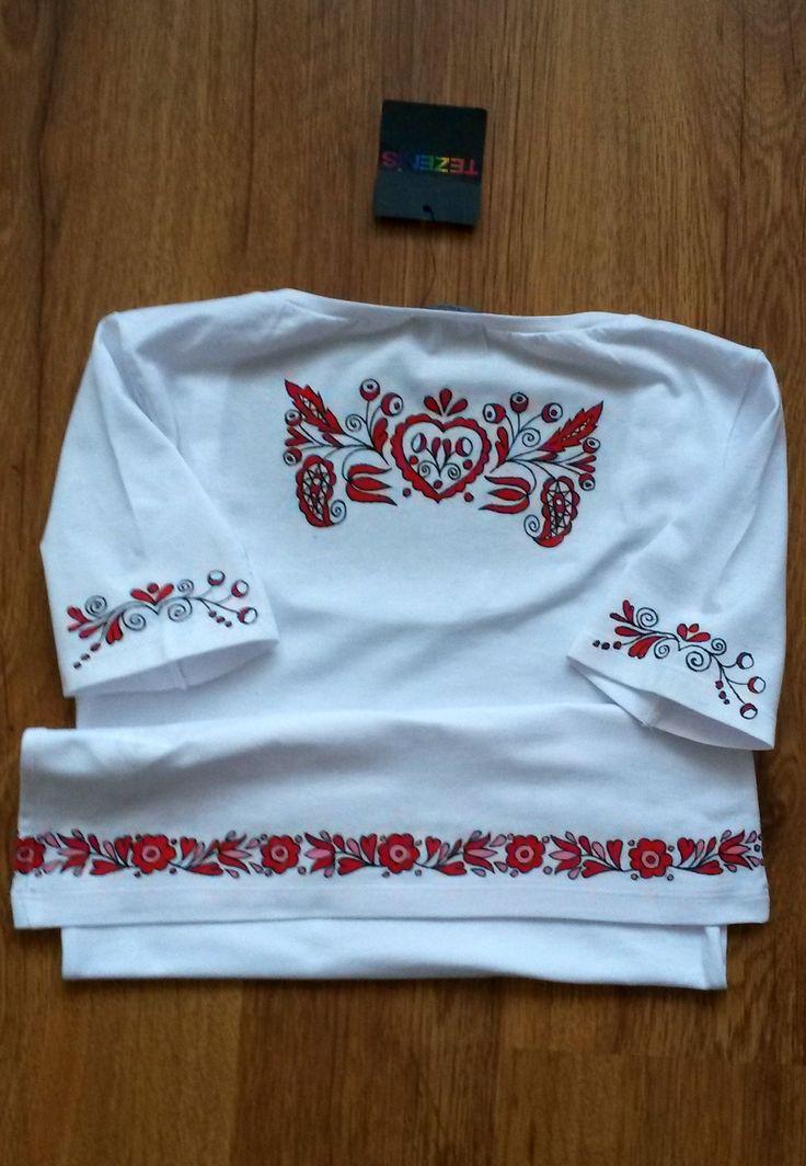 Ručně malované tričko