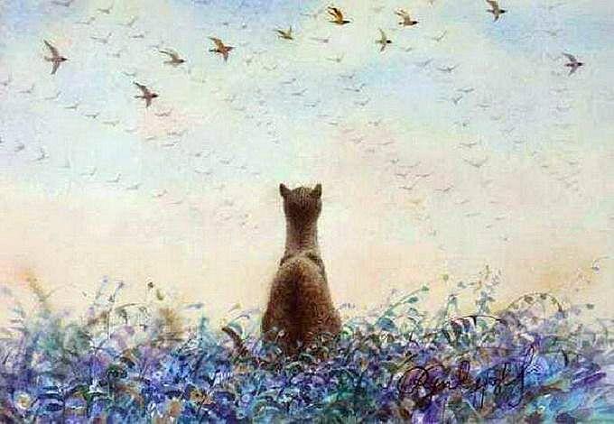 Владимир Румянцев и его коты-картины: Петербургские коты (живопись)