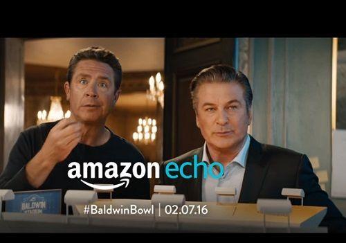 Amazon Echo Alec Baldwin And Dan Marino Snack Stadium Commercial