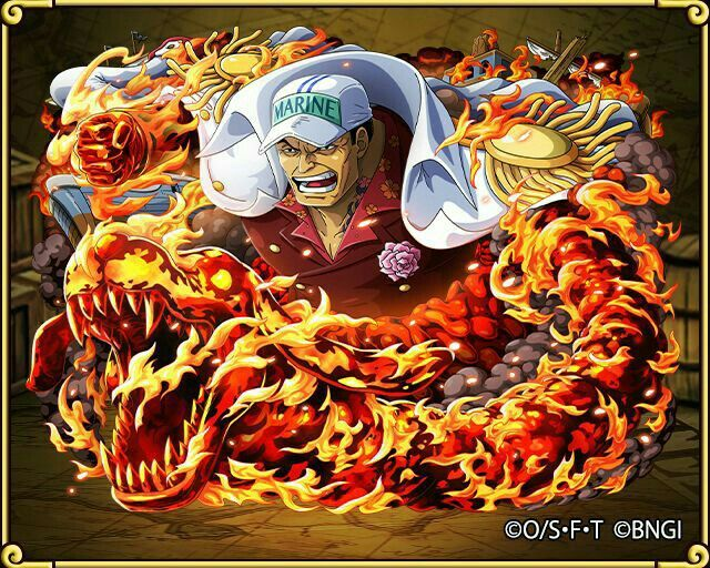 Akainu Sakazuki--- the one character in One Piece that really really needs to.die. like immediately!!!
