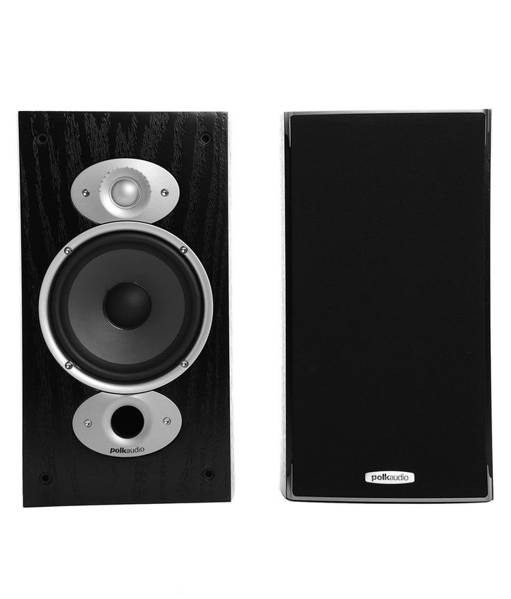 polk audio rtia3 black 2 way rti bookshelf speakers pair