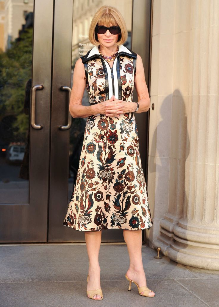 Anna Wintour in Louis Vuitton - Vogue/Costume Institute Book Launch. (September 2014)